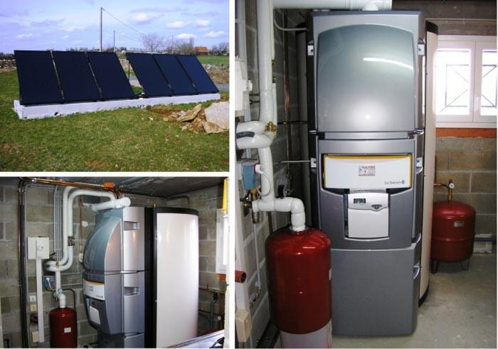 Chauffage solaire (SSC) de marque De Dietrich modèle Quadrodens à Lunan 46 Lot Midi-Pyrénées