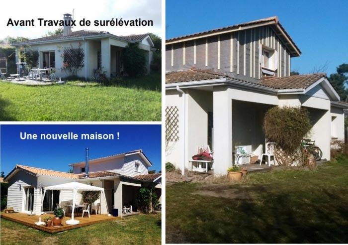 Surelevation Maison 33 ets ossature bois - agrandissement surface habitable surélévation