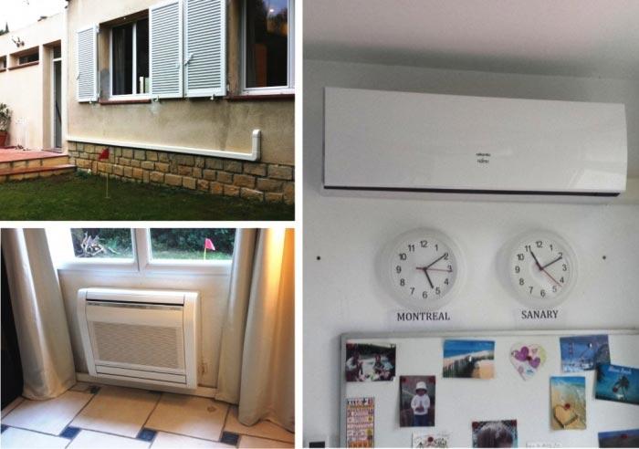 ets e2s climatisation de marque atlantic en maison individuelle existante sanary var. Black Bedroom Furniture Sets. Home Design Ideas
