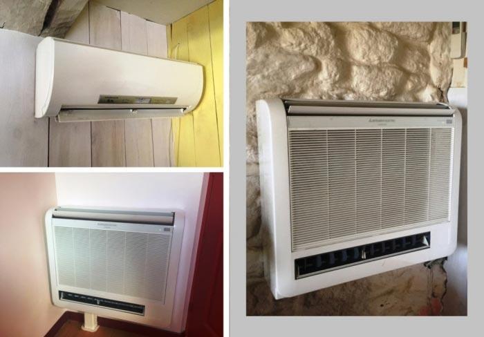 Installation d'une climatisation de marque Mitsubishi Electric à Bieuzy les Eaux 56 Morbihan-Morbihan (56)