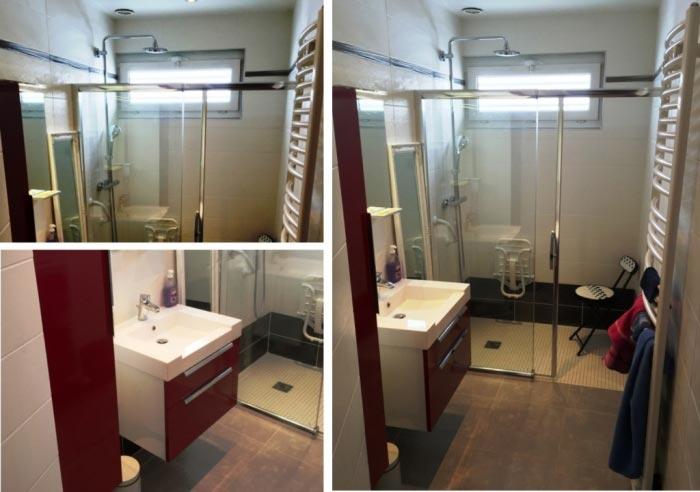 bigeard eurl r alisation d 39 une salle de bain compl te avec douche l 39 italienne radiateur. Black Bedroom Furniture Sets. Home Design Ideas