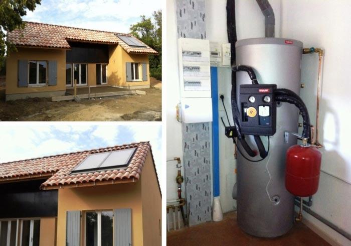 Chauffe eau solaire (CESI) 300 litres marque Tisun Saint Quentin la Poterie 30 Gard