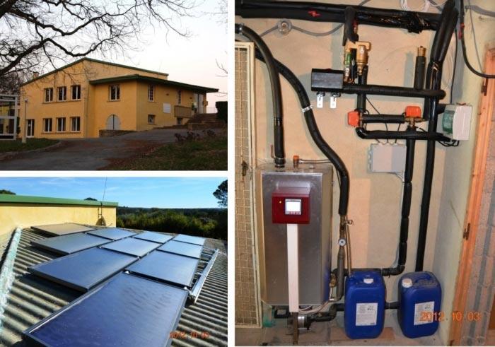 Chauffe eau solaire collectif (CESI) marque Eklor 1500 litres Saint Quentin la Poterie 30 Gard