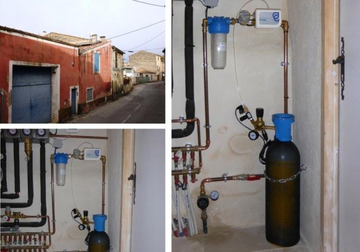 Anti-tartre écologique au CO2 Ecobulles Montfrint 30 Gard