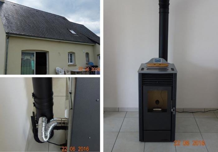 Poêle à granulés de bois (pellets) Palazzetti en Appoint à Semblançay 37 indre et loire-Indre et Loire (37)