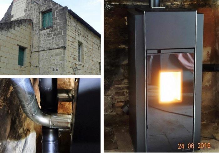 Poêle à granulés de bois (pellets) Palazzetti à Fontevraud 49 Maine et Loire-Maine et Loire (49)