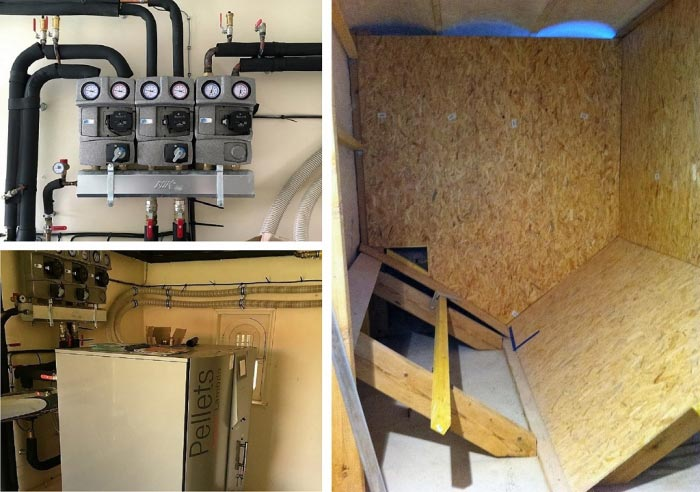Installation chaudière granulés de bois pellets Hargassner