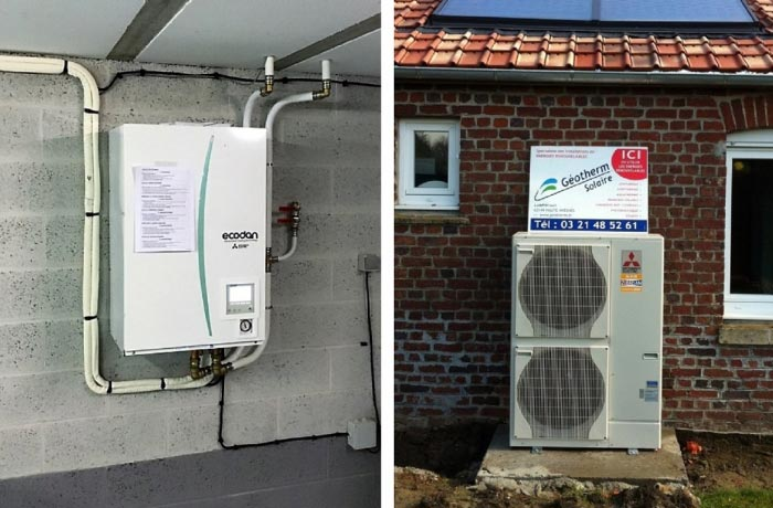 Installation PAC air-eau Mitsubishi electric