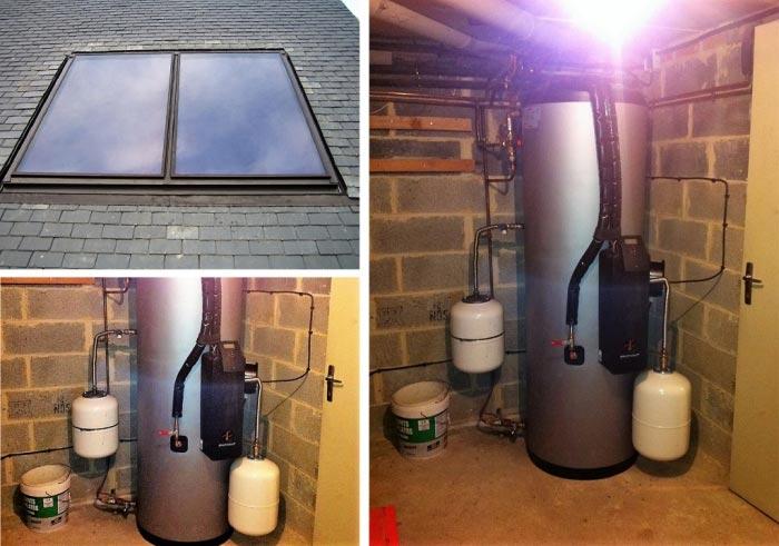 Installation chauffe eau solaire sonnenkraft