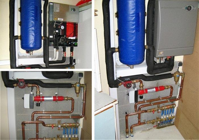 Pose d' une Pompe à Chaleur Air/ Eau sur réseau de chauffage radiateurs