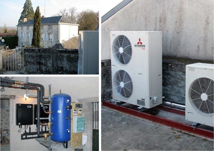 Pose d' une pompe à Chaleur Air/ Eau + Chauffe eau Thermodynamique