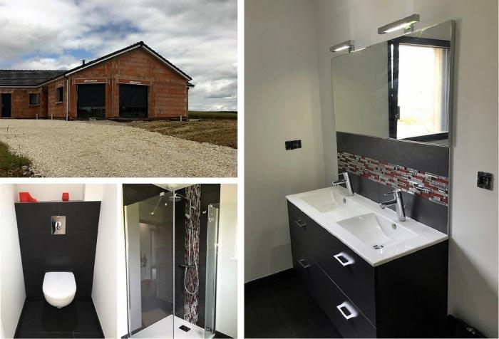 Salle de bain clé en main à Madonne et Lamerey 88270 Vosges