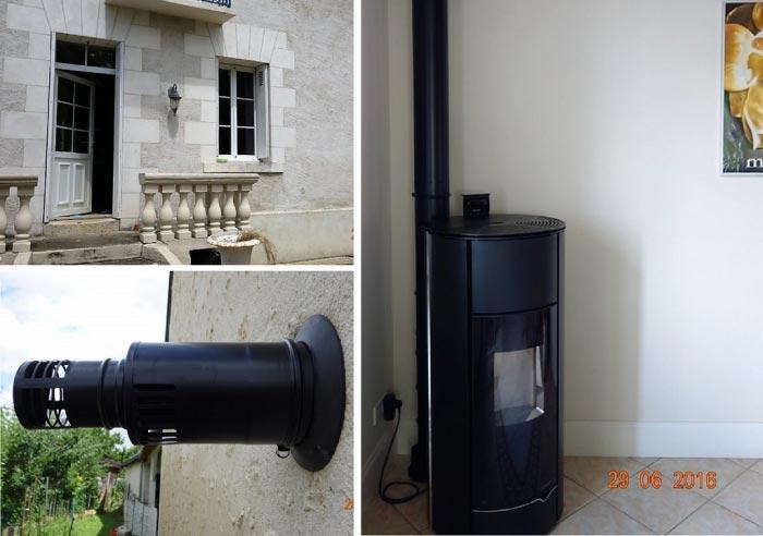 Poêle à granulés de bois (pellets) Palazzetti en Appoint La Croix En Touraine 37 indre et loire