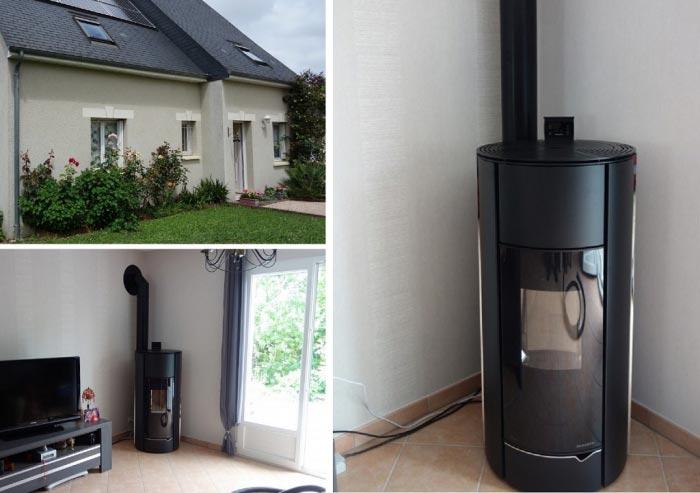 Poêle à granulés de bois (pellets) Palazzetti en Appoint à Esvres 37 indre et loire-Indre et Loire (37)