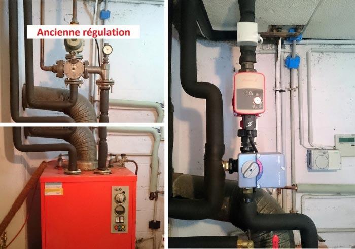 Régulation vanne 3 voies Siemens Saint Cyr en Val Loiret 45
