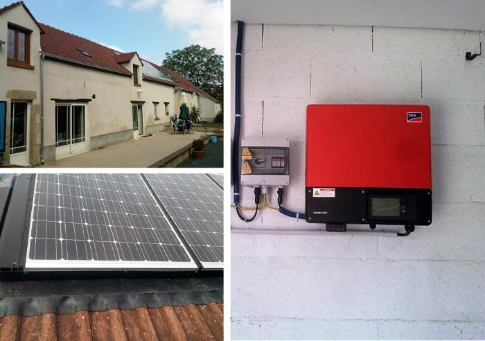 Dépannage onduleur SMA loiret, champs solaire photovoltaïque Shüco à Férolles 45 Loiret