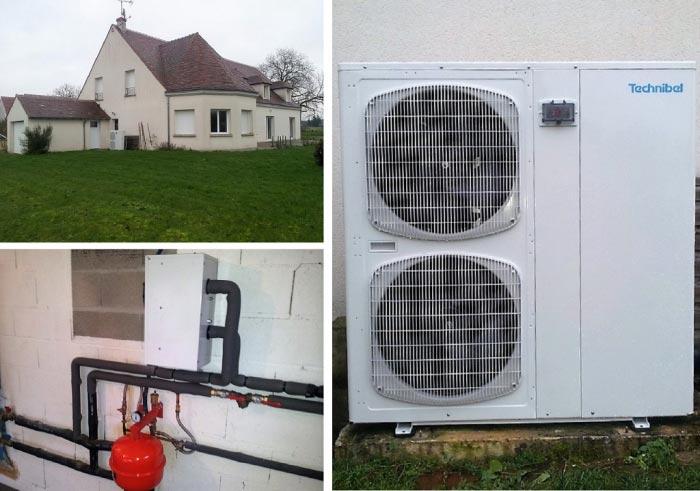 Pompe à chaleur Air-Eau Technibel Fay aux Loges 45 Loiret