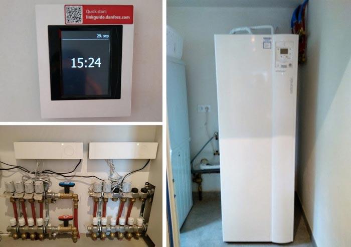 Vente installation plancher chauffant avec régulation DANFOSS pompe à chaleur ATLANTIC 29920 NEVEZ