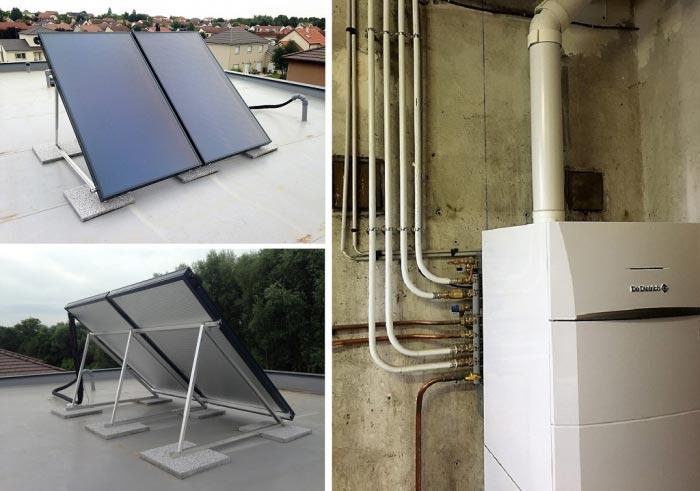 Chaudière gaz à consentation De Dietrich Modulens G avec préparateur solaire à Thaon les Vosges 88150 Vosges