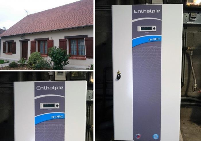 Géothermie, installation d'une pompe à chaleur eau/eau