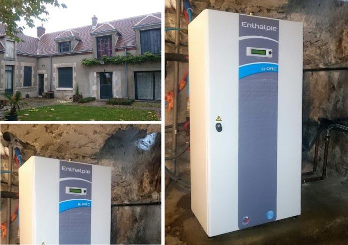Géothermie Loiret, installation d'une pompe à chaleur eau/eau