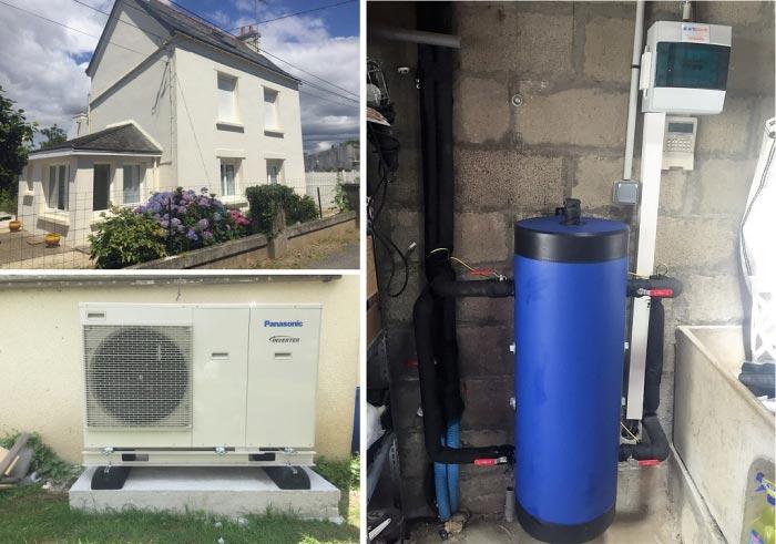 Installation Pompe à chaleur ( PAC ) Panasonic Moelan Sur Mer  29 FINISTERE-Finistère (29)