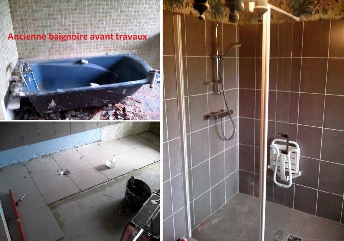 Plombier - Réfection d'une salle de bain