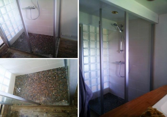 Plombier RGE Oise - Création d'une douche à l'italienne