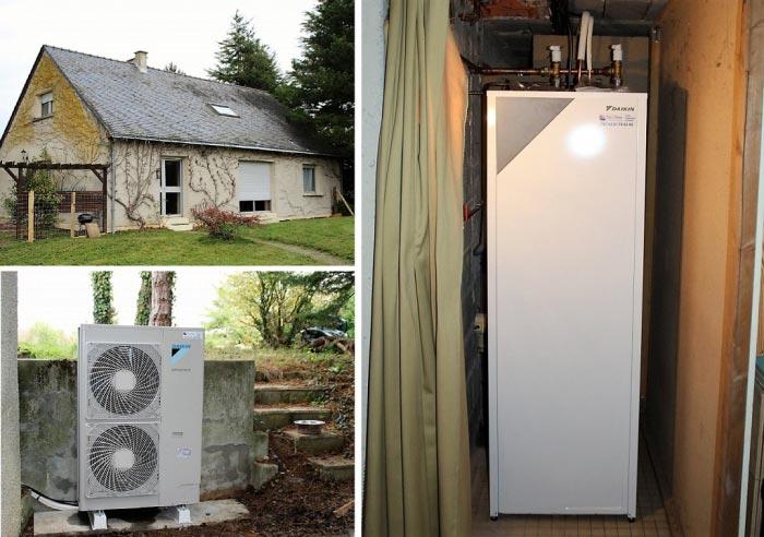 Installation pompe à chaleur basse température DAIKIN pour des économies d'énergie-Maine et Loire (49)