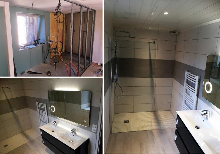BIGEARD EURL - Réalisation d\'une salle de bain complète avec ...