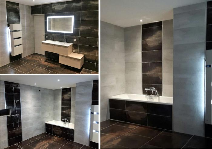BIGEARD EURL - Réalisation d\'une salle de bain avec douche a l ...
