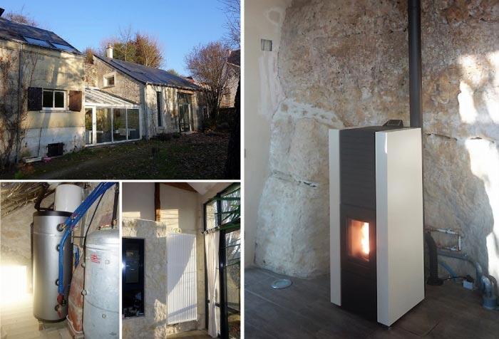 Poêle à granulés de bois (pellets) Hydraulique  Palazzetti en Appoint à Rochecorbon 37 indre et loire-Indre et Loire (37)