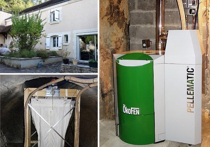 Chaudière à granulés de bois pellets Okofen à Luynes  37 Indre et Loire-Indre et Loire (37)