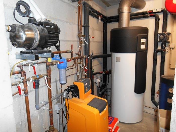 Chauffe-eau thermodynamique Bosch + Adoucisseur d'eau Cillit