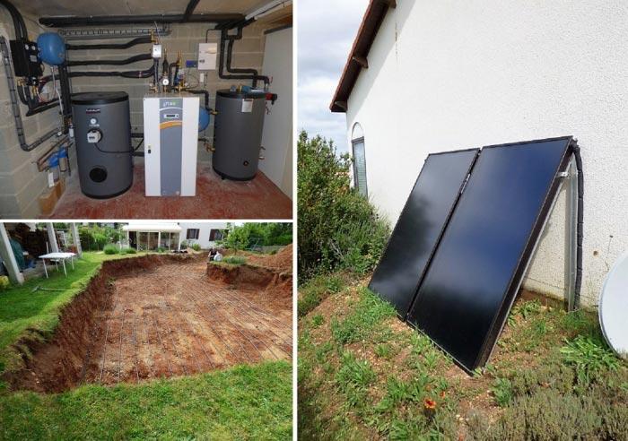 Couplage Solaire + Géothermie objectif consommation minimum - Installateur RGE Qualipac-Vienne (86)