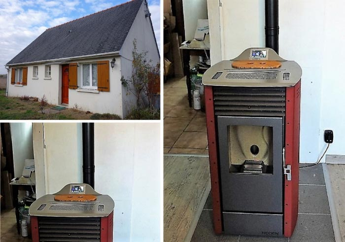 Poêle à granulés de bois (pellets) Hoben en Chauffage principal à Saché 37 Indre et Loire-Indre et Loire (37)