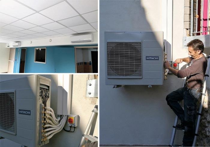 ets thomas thermique mise en service d 39 une climatisation hitachi lamonzie montastruc 24. Black Bedroom Furniture Sets. Home Design Ideas