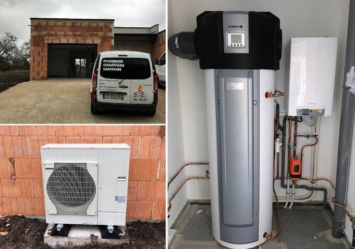 Pompe à chaleur (PAC) air/eau + chauffe eau thermodynamique De Dietrich à Brantigny 88130 Vosges