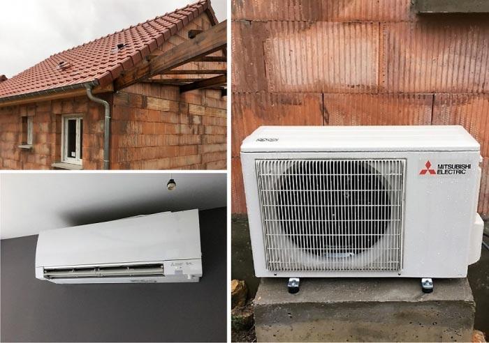 (chauffagiste RGE) Pompe à chaleur air/air climatisation Mitsubishi à Charmes 88130 Vosges