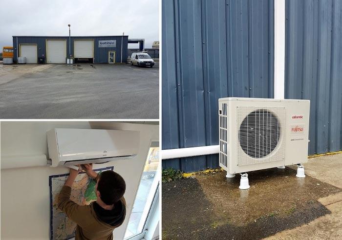 Mise en service climatiseur réversible Atlantic loiret 45 Beaune la Rolande