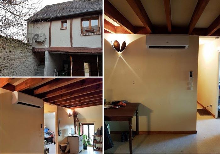 Climatisation réversible dans un appartement à Chécy 45430, pompe à chaleur air-air