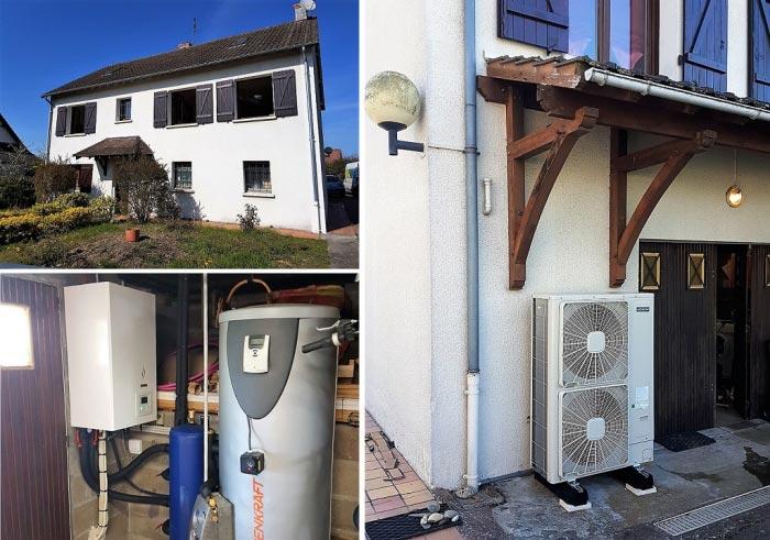 Pompe à chaleur avec production d'eau chaude sanitaire Loiret Vienne en Val 45