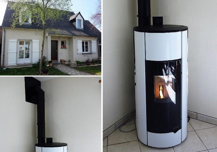 Poêle à granulés de bois (pellets) Palazzetti en Appoint chauffage à La Riche  37 Indre et Loire