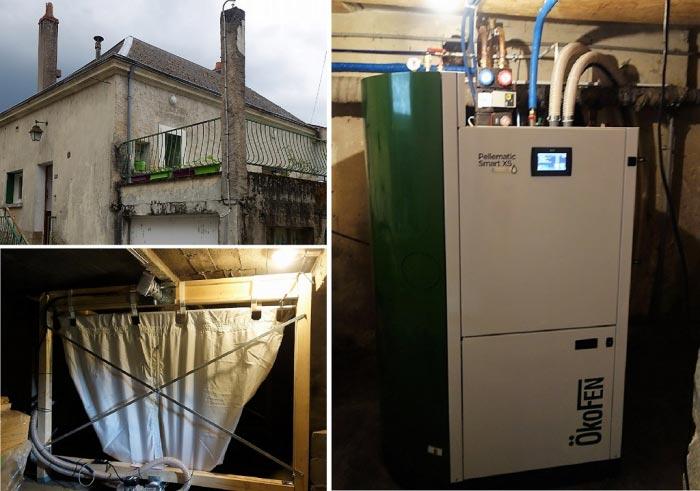 Chaudière à granulés de bois pellets Okofen Smart XS16  à Cinq Mars La Pile 37 Indre et Loire
