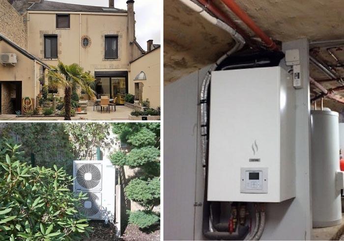 Installaton d'une pompe à chaleur air-eau Hitachi Fay aux Loges Loiret 45