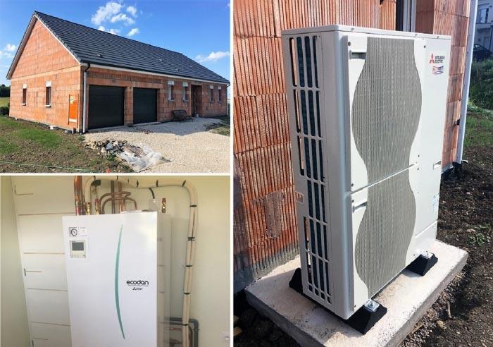 Aérothermie PAC (chauffagiste) pompe à chaleur air/eau Mitsubishi à Mirecourt 88500