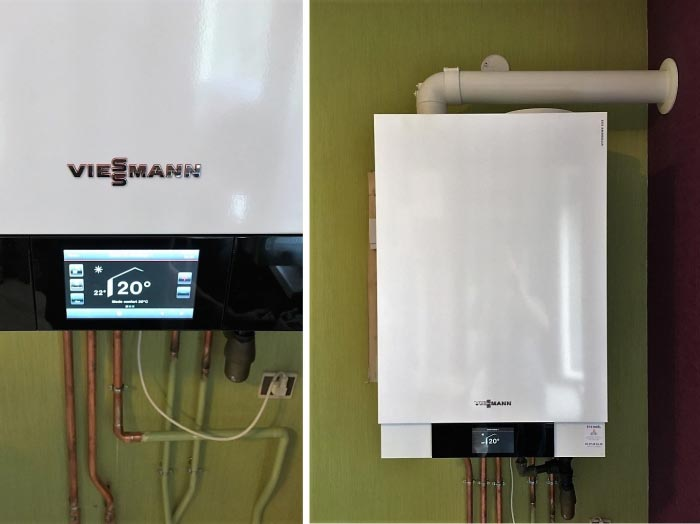 Chaudière gaz à condensation haute performance énergétique (chauffagiste) Viessmann Vitodens 222 à Charmes 88130