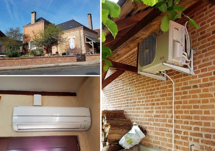 Dépannage pompe à chaleur AEER loiret, pompe à chaleur air-air Sanyo AEER à Vannes sur Cosson