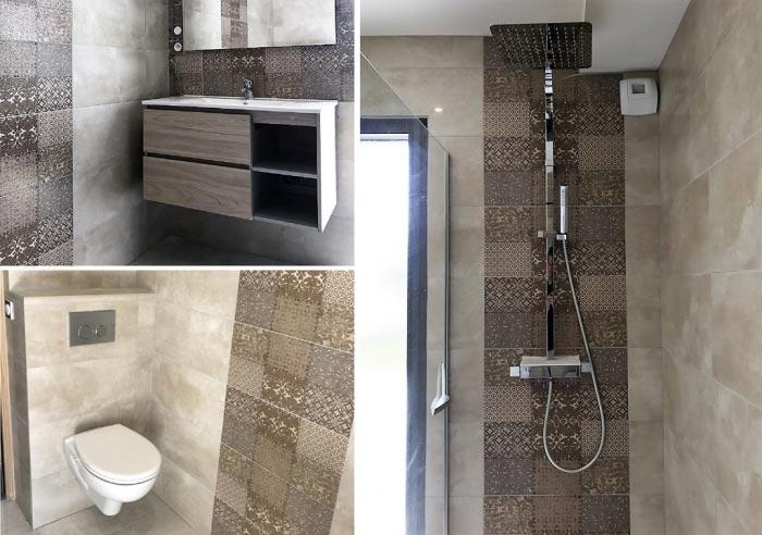 Plombier-Installation-Salle de bain et douche à l'italienne à Tarbes- 65000