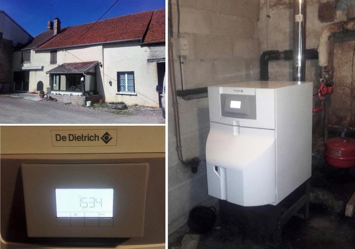 Chaudière Fioul basse température DE DIETRICH à Chambain 21 Côte-d'Or région Bourgogne